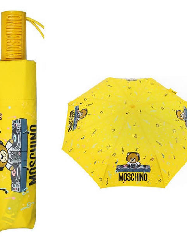 Moschino DJ-Themed Logo Print Umbrella