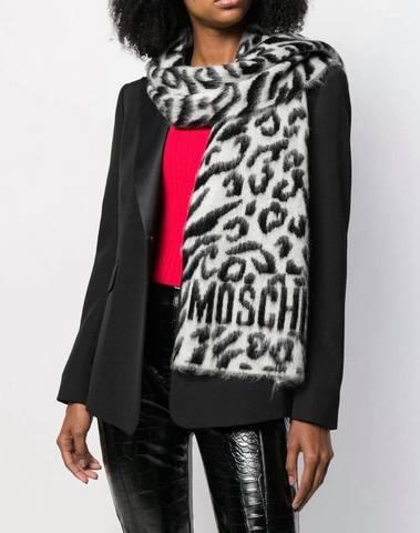 Moschino Leopard Intarsia Scarf