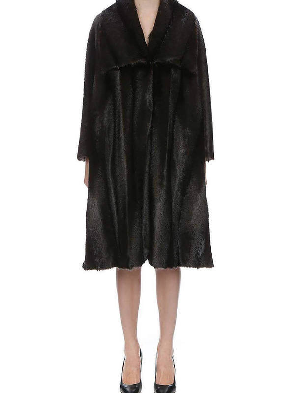 Moschino Faux Fur Jacket Long