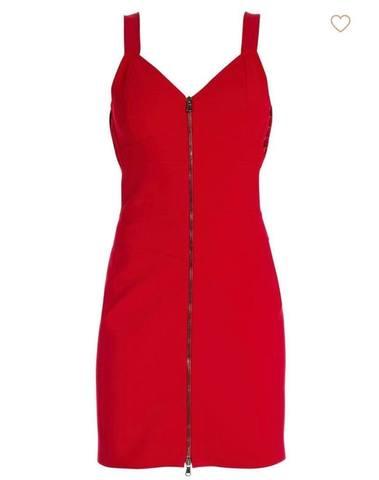 Moschino Zip Front Mini Bandage Dress