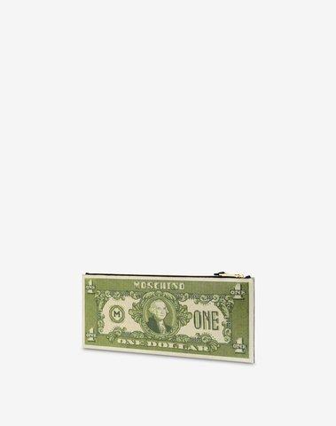 Moschino Dollar Maxi Clutch