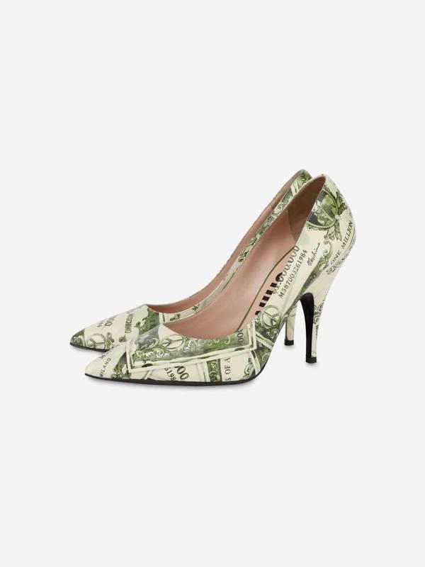 Moschino Watercolor Money Pumps