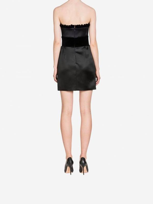 Moschino Enver Satin Bustier Dress