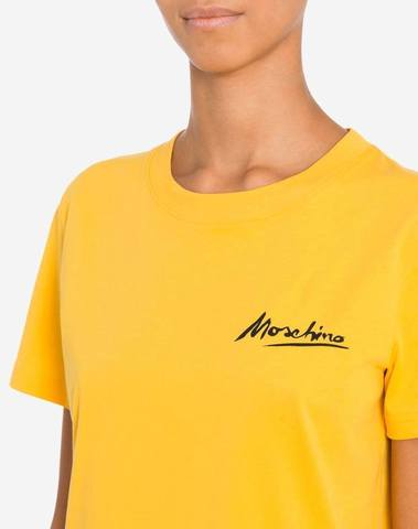 Moschino Yellow T-Shirt Mini Logo Signature