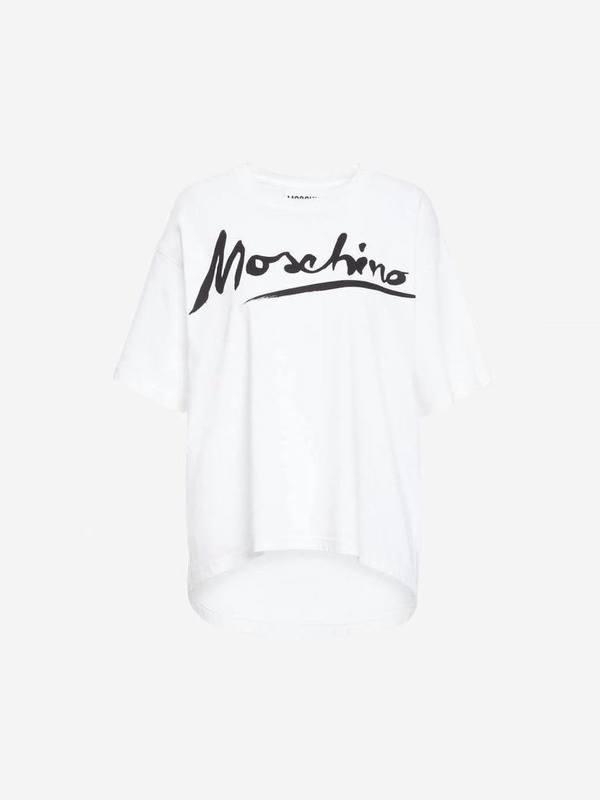 Moschino White T-Shirt Logo Signature