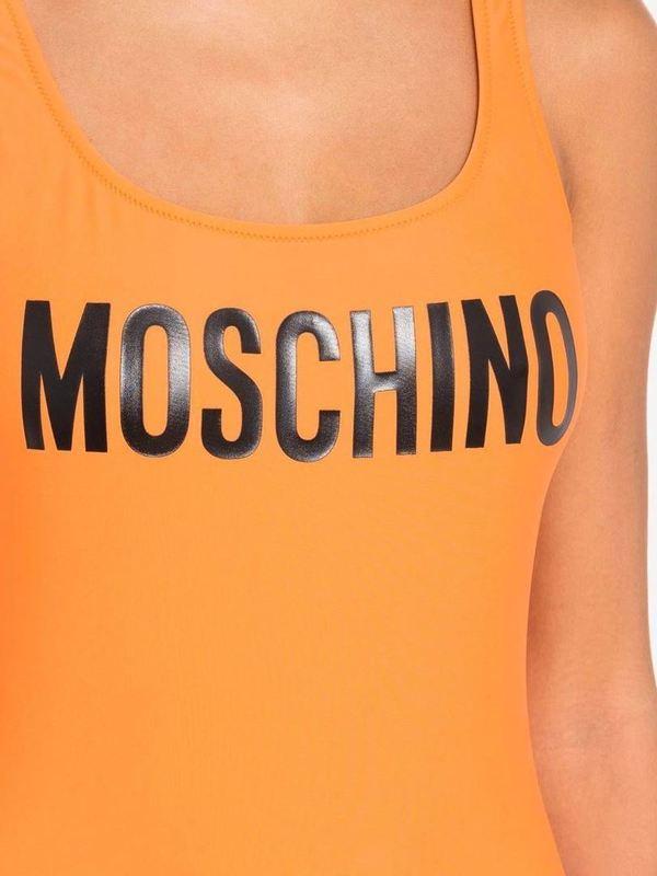 Moschino Orange One-Piece Swimsuit With Logo