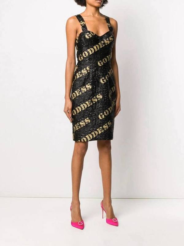 Moschino Embroidered Mini Goddess Dress