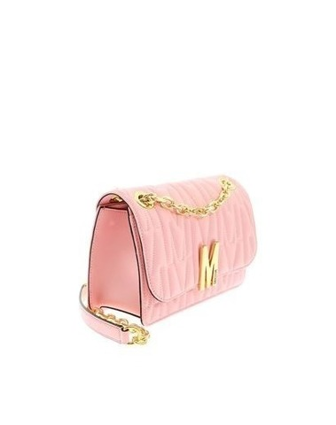 Moschino Pink Quilted Shoulder Bag
