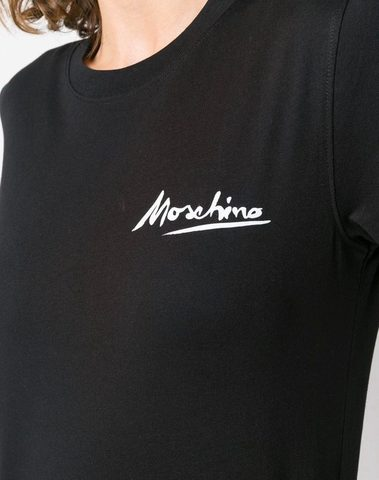 Moschino Black Logo Print T-Shirt