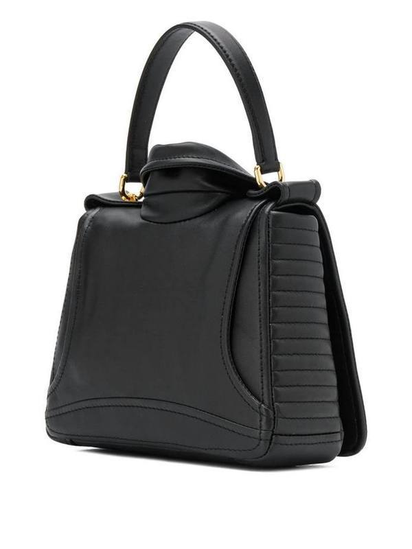 Moschino Black Biker Shoulder Bag