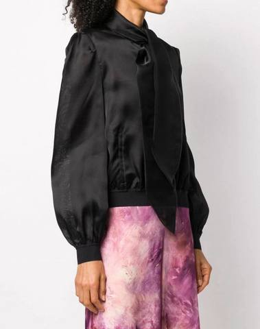 Moschino Neck Tie Silk Blouse