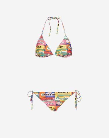 Moschino Bikini in Lycra Chewin Gum