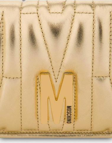 Moschino Gold M Quilted Wallet