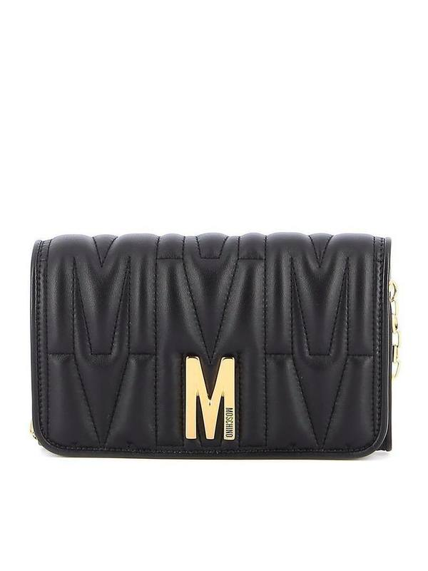 Moschino Black M Quilted Wallet