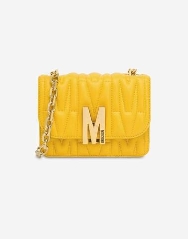 Moschino Yellow M Quilted Bag (Medium)