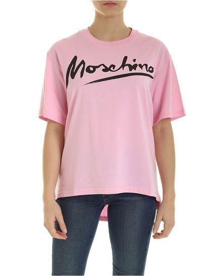 Moschino Pink T-Shirt Logo Signature