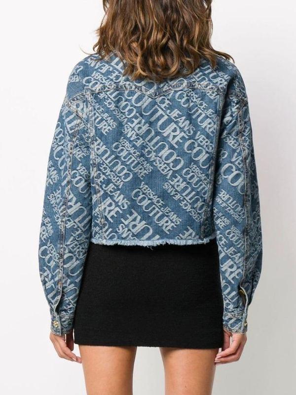 Versace Jeans Couture Logo Print Denim Jacket