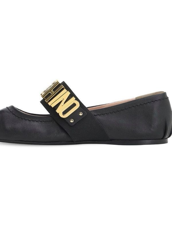 Moschino 10MM Leather Ballerinas