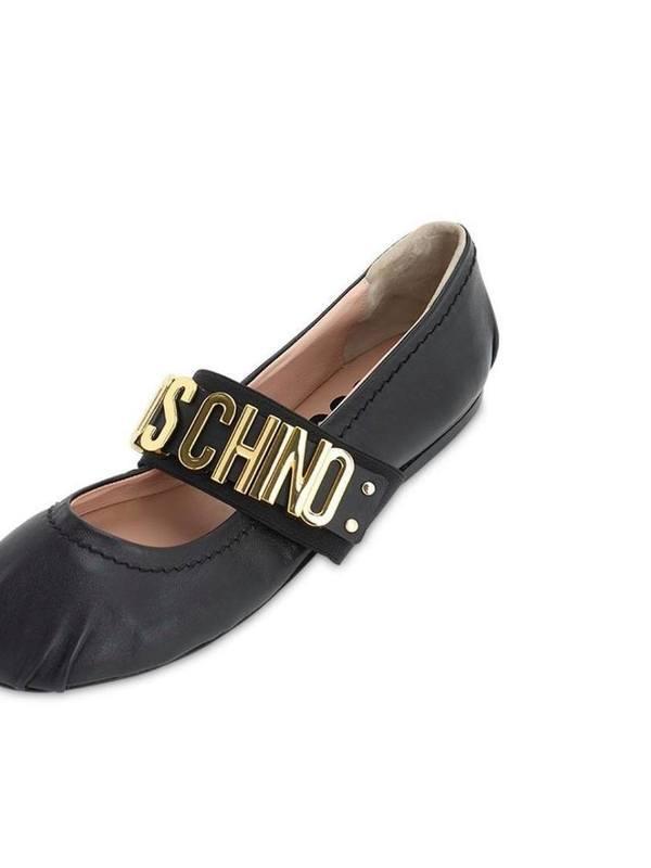 Moschino 10MM Leather Ballerinas