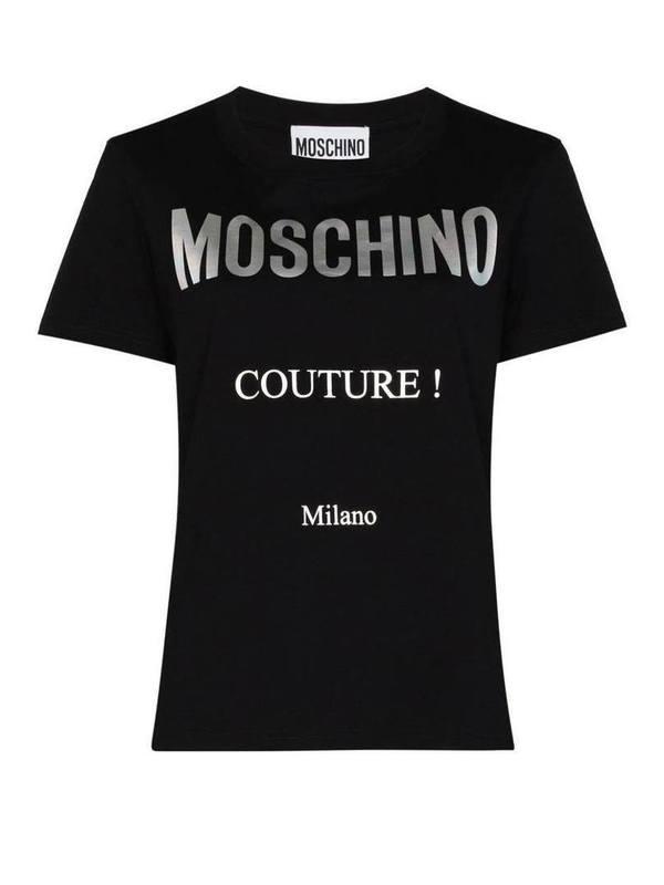 Moschino Black Logo Print T-Shirt