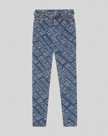 Versace Logo Jacquard Jeans
