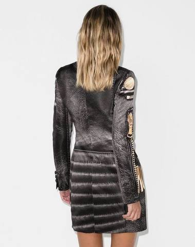 Moschino Robe Manteau Dress Macro Biker