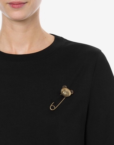 Moschino T-Shirt Teddy Bear Safety Pin
