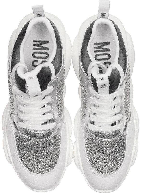 Moschino Teddy Run Sneakers With Crystals