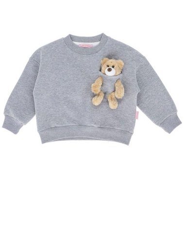 'Kids Of Heart' Tracksuit Set (LIGHT-GREY) With Teddy Bear