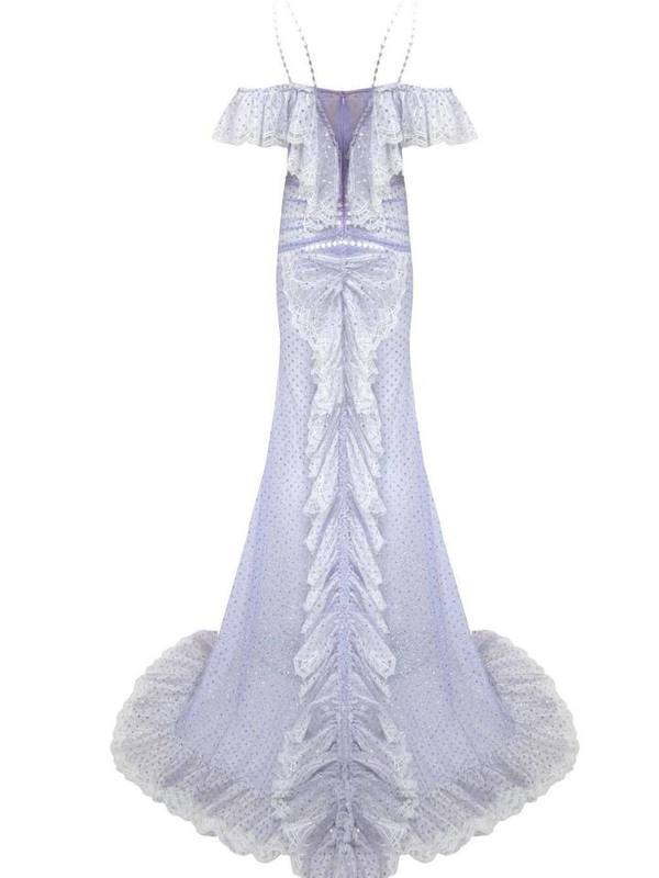 Butterfly applicated maxi dress