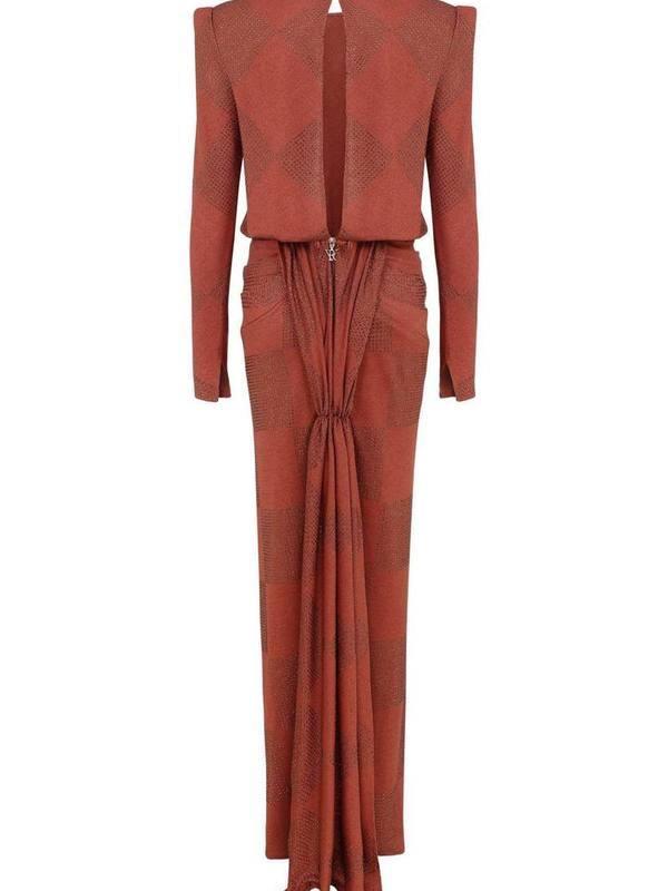Strass embellished maxi dress