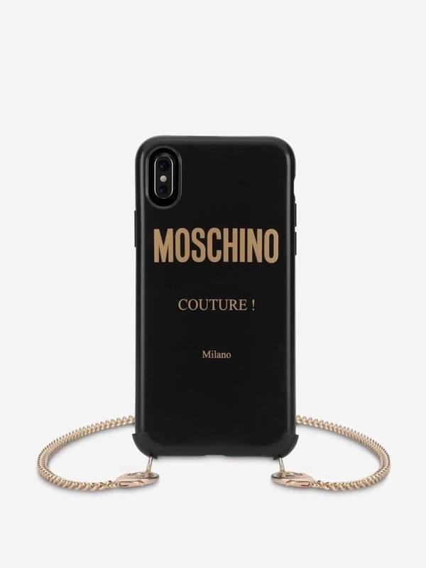 Moschino Couture IPhone XR Cover With Chain