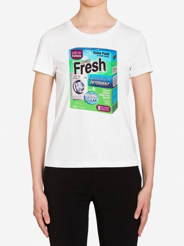 Moschino Jersey T-Shirt with Packaging Print (IT42)