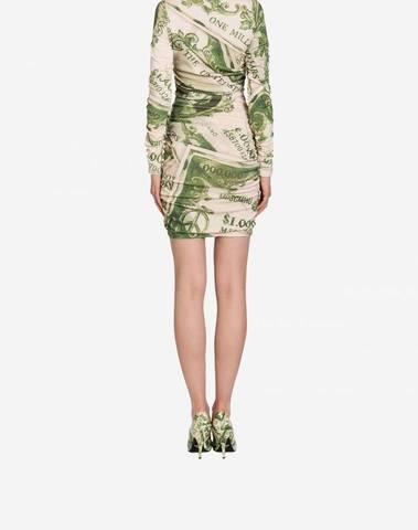 Watercolor Money Wool Dress