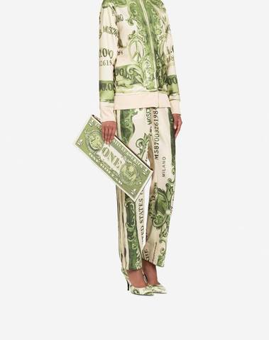 Moschino Dollar Maxi Clutch