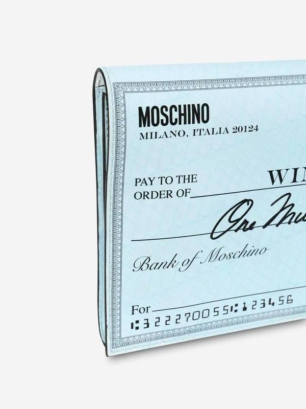 Moschino Check Maxi Clutch