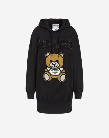 Moschino Teddy Embroidery Fleece Dress