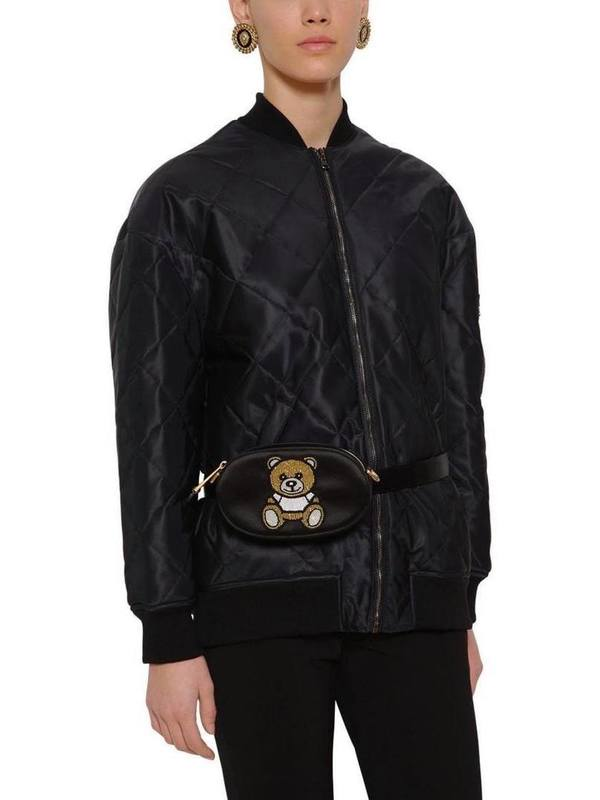 Moschino Embellished Silk Satin Bag