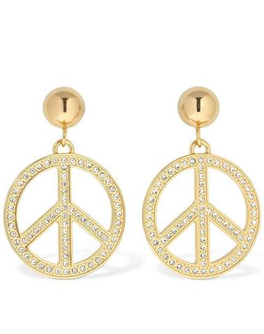 Moschino Clip-On Earrings W/ Crystals