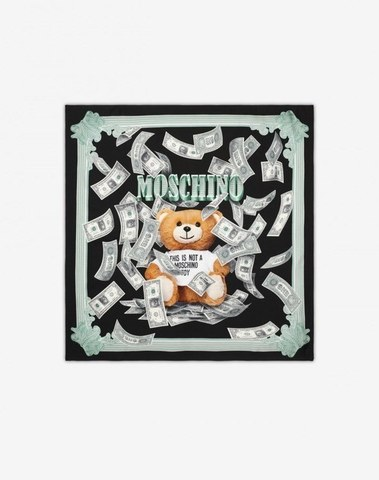 Moschino Dollar Teddy Bear Scarf