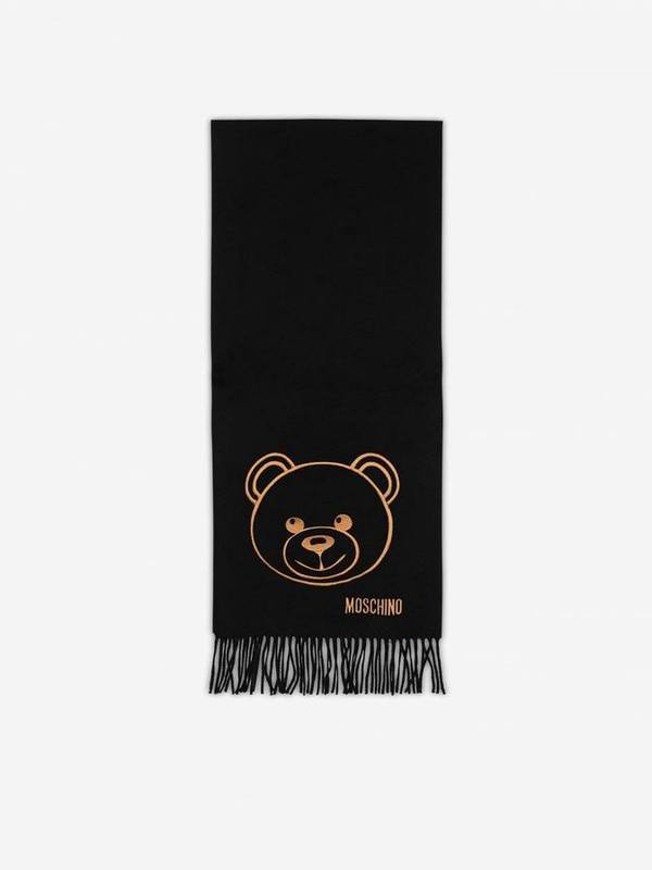 Moschino Teddy Bear Merino Wool Scarf