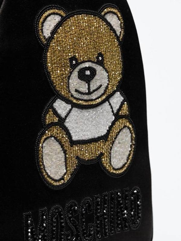 Moschino Small Beaded Teddy Motif Backpack