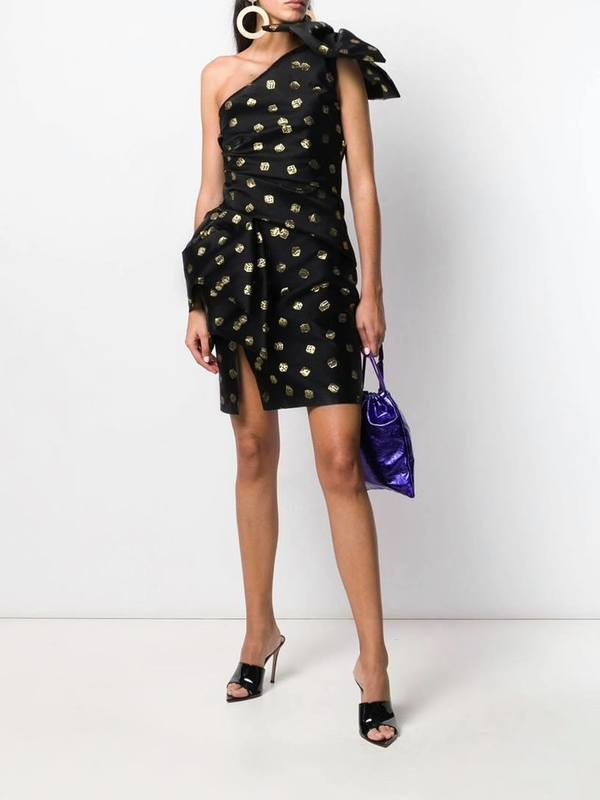 Moschino Dice-Print Asymmetric Dress