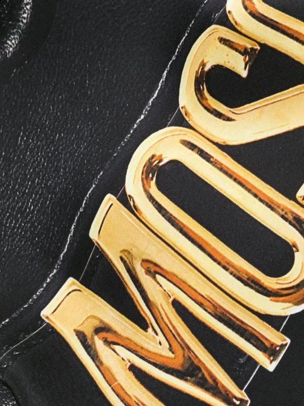 Moschino Logo Biker Jacket Print Scarf