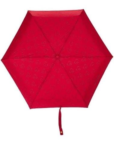 Moschino Teddy Bear Mini Umbrella W/ Golden Teddy Handle