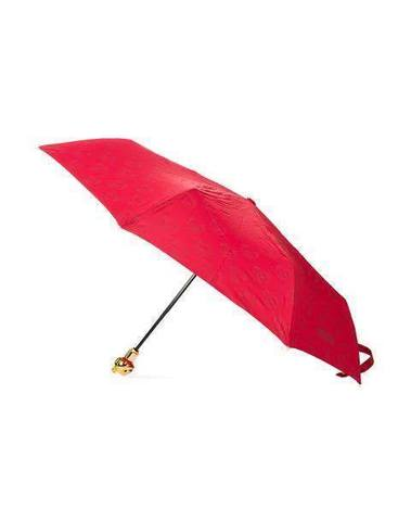 Moschino Designer Umbrella W/ Gold Teddy Bear Handle